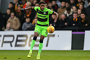 Forest Green Rovers Reece Brown(10) on the ball during the EFL Sky Bet League 2 match between Newport County and Forest Green Rovers at Rodney Parade, Newport, Wales on 26 December 2018.