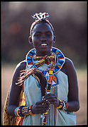 Maasai Woman Green, Maasai Mara, Kenya, July, 2002