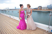 DEANA MORGAN; KIMBERLEY WALSH;, Breast Cancer Haven 10th Anniversary Gala Event aboard Super Luxury Yacht Seabourn Sojourn. Off Canary Wharf. London. 5 June 2010. -DO NOT ARCHIVE-© Copyright Photograph by Dafydd Jones. 248 Clapham Rd. London SW9 0PZ. Tel 0207 820 0771. www.dafjones.com.