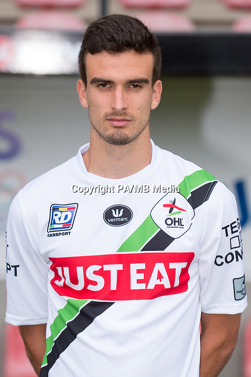 OHL's Kenneth Houdret pictured during the 2015-2016 season photo shoot of Belgian first league soccer team OH Leuven, Monday 13 July 2015 in Leuven.