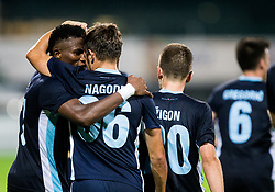 Bede Aamarachi Osuji and Tilen Nagode of Gorica celebrate after scoring 2nd goal for Gorica during 2nd Leg football match between ND Gorica and FC Shirak in 1st Qualifying Round of UEFA Europa League 2017/18, on July 6, 2017 in Nova Gorica, Slovenia. Photo by Vid Ponikvar / Sportida