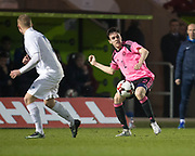 Scotland's Liam Smith - Scotland under 21s v Estonia international challenge match at St Mirren Park, St Mirren. Pic David Young<br />  <br /> - &copy; David Young - www.davidyoungphoto.co.uk - email: davidyoungphoto@gmail.com