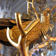 Catherine II acquired the Golden Peacock Clock in 1781 from England now on display in the State Hermitage Museum. The automaton clock has several moving parts including a peacock, a cockerel or rooster, an owl, a mushroom and a squirrel.<br /> Photography by Jose More