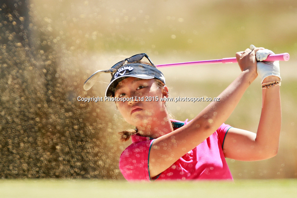Lydia Ko during play at the ISPS Handa New Zealand Womens Open - Final Round, golf tournament held at Clearwater, 1 March 2015. Photo: Joseph Johnson / www.photosport.co.nz