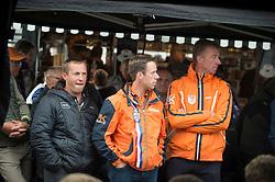 Schroder Gerco, Dubbeldam Jeroen, Van der Vleuten Maikel, Vrieling Jur, (NED)<br /> Horse inspection jumping horses<br /> European Championships - Aachen 2015<br /> © Hippo Foto - Jon Stroud<br /> 14/08/1517/08/15