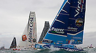 Jean-Pierre Dick the skipper of the IMOCA Open60 Virbac Paprec 3. The start of Vendee Globe 2012. Les Sables d Olonne. France. .Credit: Lloyd Images