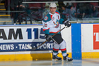 KELOWNA, CANADA - DECEMBER 27: Nick Merkley #10 of the Kelowna Rockets skates against the Kamloops Blazers on December 27, 2016 at Prospera Place in Kelowna, British Columbia, Canada.  (Photo by Marissa Baecker/Shoot the Breeze)  *** Local Caption ***
