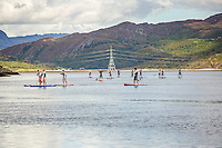Paddleboarding in estuary<br /> Festival No 6<br /> Festival Number 6<br /> Portmeirion<br /> Gwynedd<br /> North<br /> Arts<br /> Music<br /> Culture<br /> Events