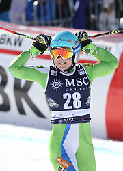 27.01.2018, Lenzerheide, SUI, FIS Weltcup Ski Alpin, Lenzerheide, Riesenslalom, Damen, 2. Lauf, im Bild Meta Hrovat (SLO) belegt den 3. Platz // Meta Hrovat of Slovenia reacts after her 2nd run of ladie's Giant Slalom of FIS ski alpine world cup in Lenzerheide, Austria on 2018/01/27. EXPA Pictures © 2018, PhotoCredit: EXPA/ Sammy Minkoff<br /> <br /> *****ATTENTION - OUT of GER*****
