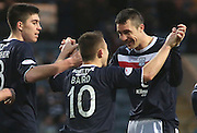 Dundee scorers Declan Gallagher, Colin Nish and John Baird celebrate - Dundee v Greenock Morton, William Hill Scottish Cup 5th Round at Dens Park .. - © David Young - www.davidyoungphoto.co.uk - email: davidyoungphoto@gmail.com