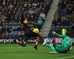 Aleksandar Mitrovic of Newcastle United scores his sides second goal - Mandatory by-line: Jack Phillips/JMP - 29/10/2016 - FOOTBALL - Deepdale - Preston, England - Preston North End v Newcastle United - EFL Championship
