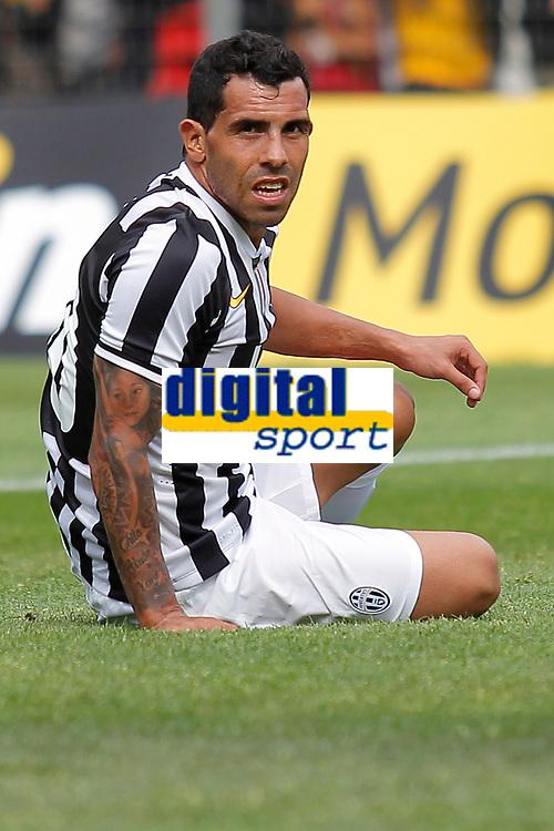Carlos Tevez Juventus, Saint Vincent 17/7/2013 <br /> Partita amichevole Juventus vs Dilettanti Valdostani<br /> Football Calcio 2013/2014 Serie A<br /> Foto Marco Bertorello Insidefoto