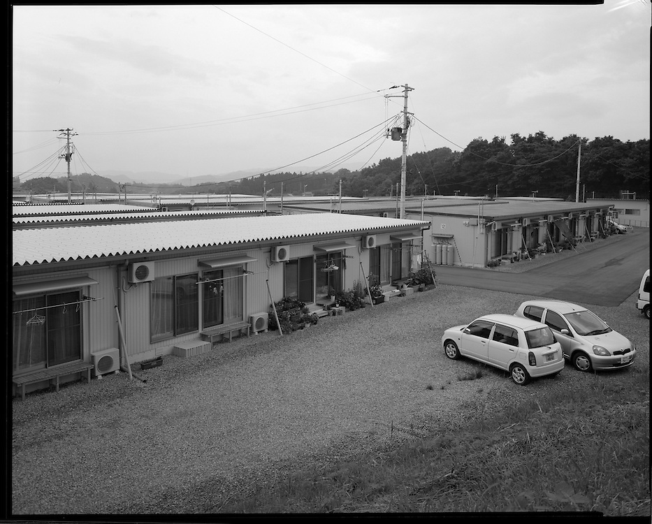 Tempoary shelter for Nuclear refugees  (from Iitate) Fukushima  Contaminated Evacuation Zome /IItate?Namie/ Futaba.