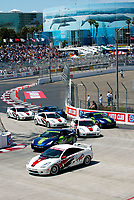 Apr 12, 2003; Long Beach, CA, USA; Start of the 27th Annual Pro/Celebrity Race in Long Beach racing Toyota Celica race cars.  Driving 10 laps on a 1.97 mile track along shoreline drive. <br />