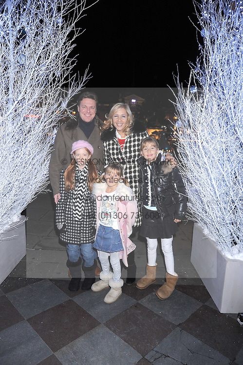 TANIA BRYER and ROD BARKER and her daughters FRANCESCA and NATASHA at the opening of the Somerset House ice Rink for 2008 sponsored by Tiffany & Co held at Somerset House, The Strand, London on 18th November 2008.