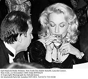 Earl Mack & Molly Wilmot. New York City Ballet benefit. Lincoln Center. New York. 22 November 1989. Film 89956f29<br />© Copyright Photograph by Dafydd Jones<br />66 Stockwell Park Rd. London SW9 0DA<br />Tel 0171 733 0108