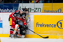 01.03.2016, Ice Rink, Znojmo, CZE, EBEL, HC Orli Znojmo vs Dornbirner Eishockey Club, Viertelfinale, 3. Spiel, im Bild v.l. Antonin Boruta (HC Orli Znojmo), Nicolas Petrik (Dornbirner) // during the Erste Bank Icehockey League 3rd quarterfinal match between HC Orli Znojmo and Dornbirner Eishockey Club at the Ice Rink in Znojmo, Czech Republic on 2016/03/01. EXPA Pictures © 2016, PhotoCredit: EXPA/ Rostislav Pfeffer