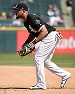CHICAGO - APRIL 08:  Jose Abreu #79 of the Chicago White Sox fields against the Tampa Bay Rays on April 8, 2019 at Guaranteed Rate Field in Chicago, Illinois.  (Photo by Ron Vesely)  Subject:   Jose Abreu