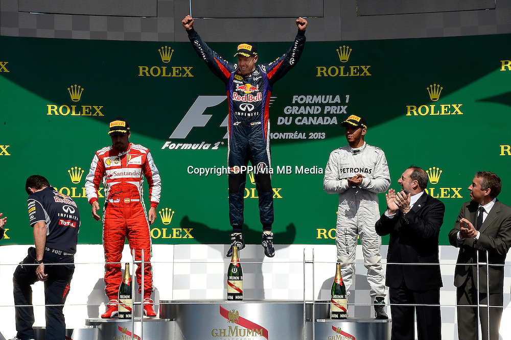 MOTORSPORT - F1 2013 - GRAND PRIX OF CANADA - MONTREAL (CAN) - 07 TO 09/06/2013 - PHOTO ERIC VARGIOLU / DPPI PODIUM - AMBIANCE<br /> VETTEL SEBASTIAN (GER) - RED BULL RENAULT RB9 - AMBIANCE PORTRAIT