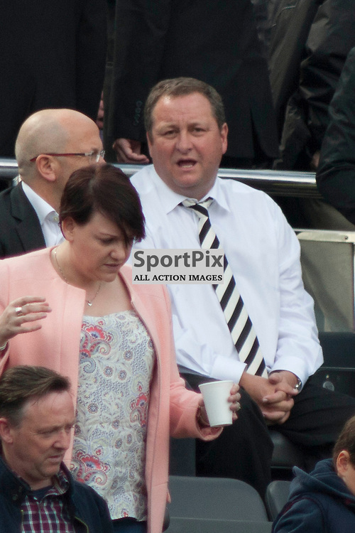 Mike Ashley prior to the Newcastle v West Ham, Barclays Premiership match at St James&rsquo; Park, Newcastle 24 May 2014<br />