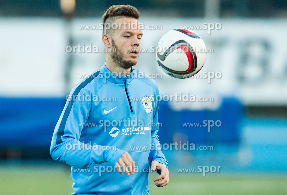Dejan Lazarevic of Slovenia during the practice session of Team Slovenia 1 day before EURO 2016 Qualifier Group E match between Slovenia and San Marino, on October 11, 2015 in Riccione, Italy. Photo by Vid Ponikvar / Sportida