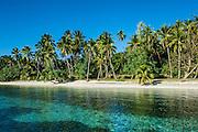White sand beach, Nanuya Lailai island, the blue lagoon, Yasawas, Fiji, South Pacific
