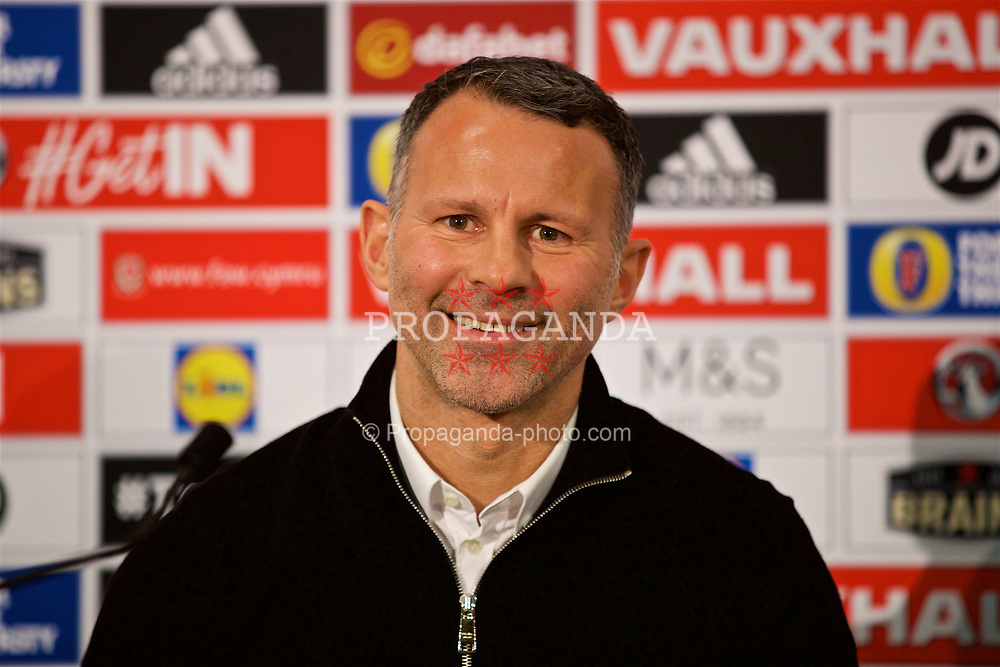 CARDIFF, WALES - Thursday, March 15, 2018: Wales' manager Ryan Giggs during a press conference at the St Fagans National Museum of History as he announces the squad for the forthcoming China Cup. (Pic by David Rawcliffe/Propaganda)