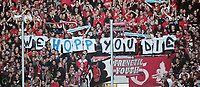 Fotball<br /> Tyskland<br /> 05.11.2011<br /> Foto: Witters/Digitalsport<br /> NORWAY ONLY<br /> <br /> Fans Kaiserslautern mit Plakat gegen Dietmar Hopp <br /> <br /> Bundesliga, TSG 1899 Hoffenheim - 1. FC Kaiserslautern
