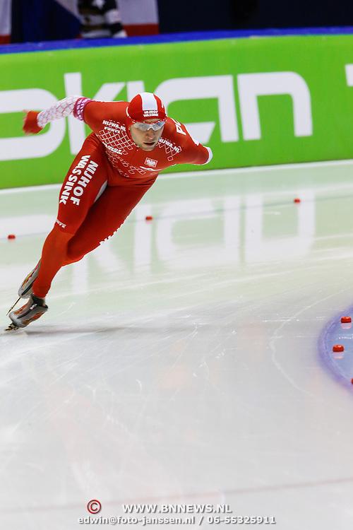 NLD/Heerenveen/20130112 - ISU Europees Kampioenschap Allround schaatsen 2013 dag 2, 1500 meter heren, Konrad Niedz?wiedzki (
