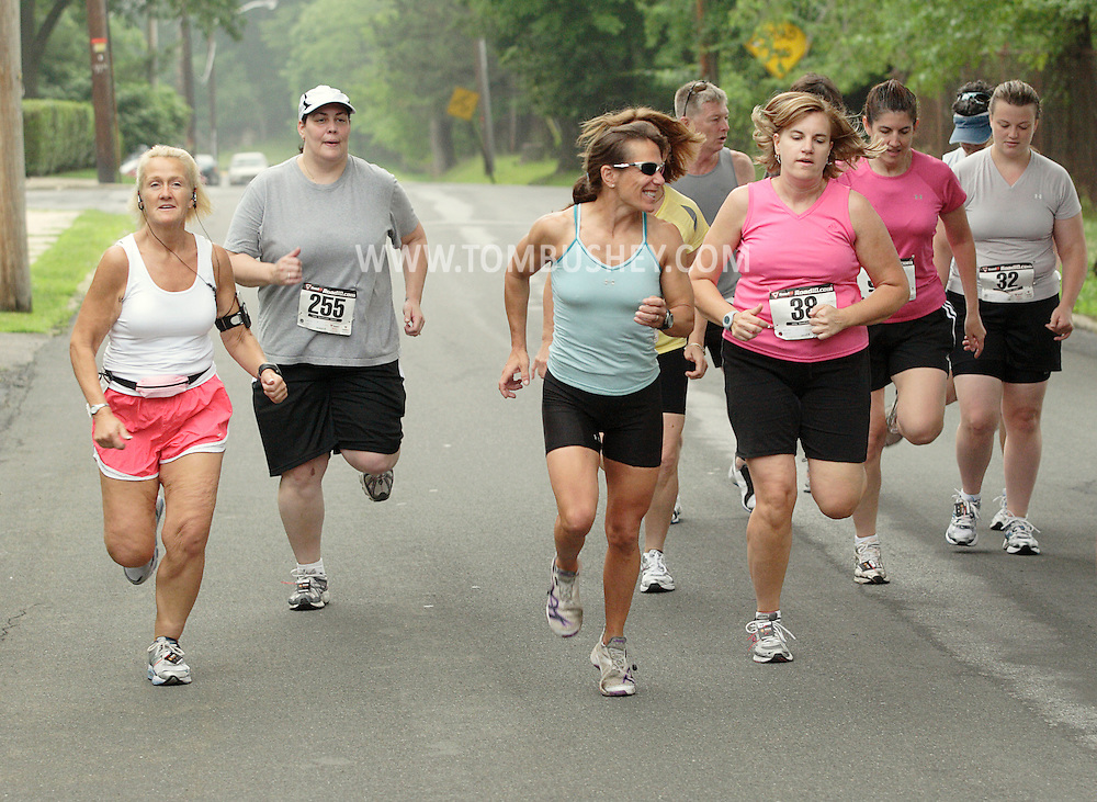 Middletown, New York - Runners compete in the Ruthie Dino Marshall 5K race sponsored by the Middletown YMCA  on June 6, 2010.