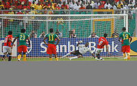 Photo: Steve Bond/Richard Lane Photography.<br />Egypt v Cameroun. Africa Cup of Nations. 22/01/2008. Abdrabou Hasny (8) scores with a twice taken penalty