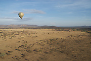 Hot air ballooning in the Serengeti
