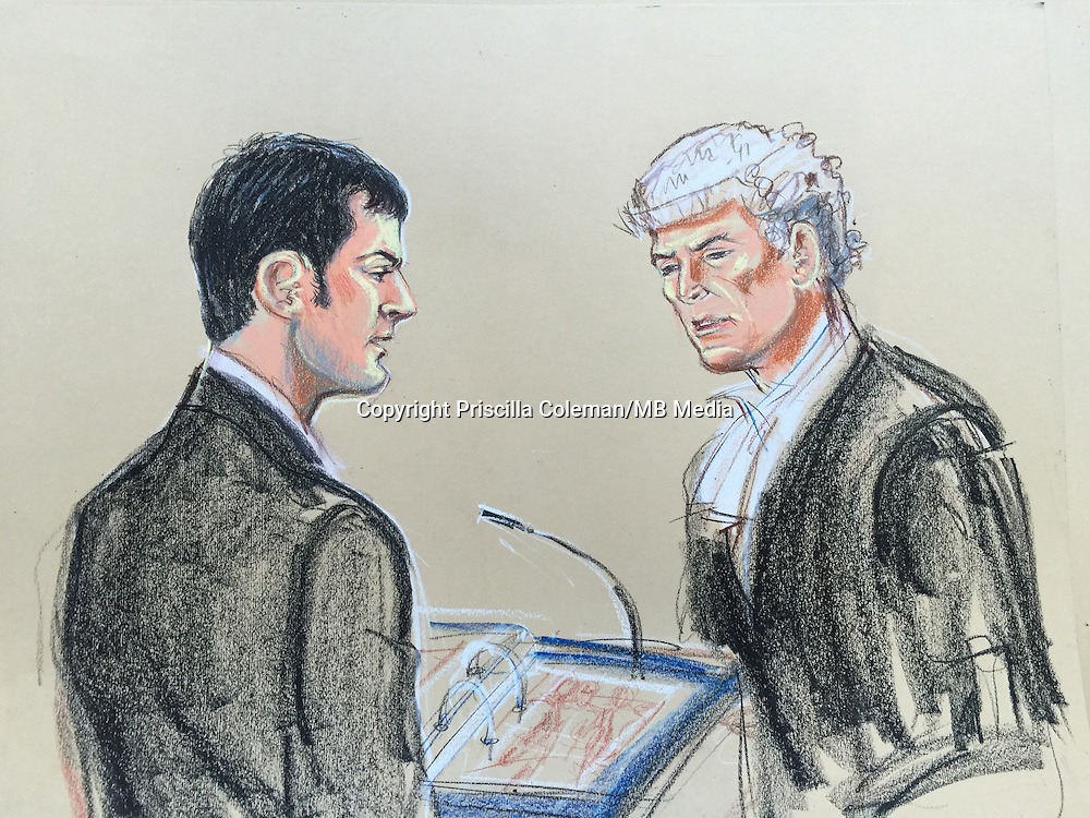 Johnson in witness box on left<br />