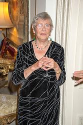 ANNA DEL CONTE at a reception in honour of Anna del Conte held at The Italian Emabssy, Grosvenor Square, London on 9th November 2015.
