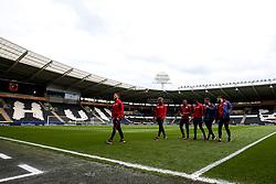 Bristol City arrive at Hull City - Mandatory by-line: Robbie Stephenson/JMP - 05/05/2019 - FOOTBALL - KCOM Stadium - Hull, England - Hull City v Bristol City - Sky Bet Championship