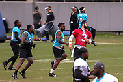 Carolina Panthers quarterback Will Grier(3) warming up during minicamp at Bank of America Stadium, Thursday, June 13, 2019, in Charlotte, NC. (Brian Villanueva/Image of Sport)