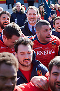 031118 King Felipe VI attends Spanish Rugby National Team v Germany Rugby National Team match