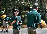 Cody Underwood, 14, who has Aspergers Syndrome, asks another student if he can join in their game during recess at Quest Middle School in Tampa. Underwood has been able to make friends at Quest after years of being bullied at other schools.