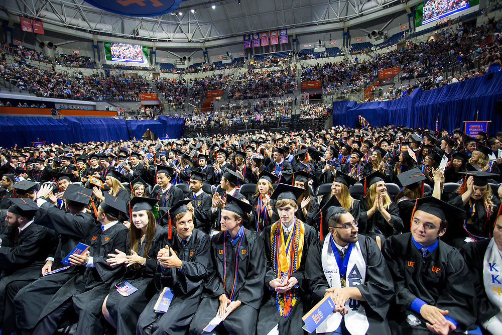 Spring 2017 undergraduate commencement for the University of Florida's Herbert Wertheim College of Engineering in Gainesville, Florida.