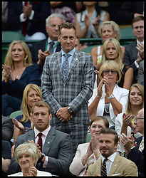 Image ©Licensed to i-Images Picture Agency. 28/06/2014, Wimbledon, London, United Kingdom. golfer Ian Poulter  in the Royal box on Day 6 of the Wimbledon Tennis Championship. Picture by Andrew Parsons / i-Images
