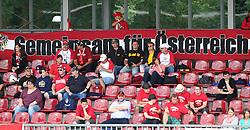 27.07.2010, Wetzlar Stadion, Wetzlar, GER, Football EM 2010, Team Austria vs Team Finland, im Bild Fans von Team Austria mit Banner,  EXPA Pictures © 2010, PhotoCredit: EXPA/ T. Haumer / SPORTIDA PHOTO AGENCY