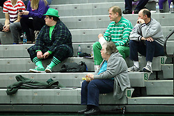 10 January 2015:  Titan fans dressed in green during an NCAA women's division 3 CCIW basketball game between the Carthage Reds and the Illinois Wesleyan Titans in Shirk Center, Bloomington IL