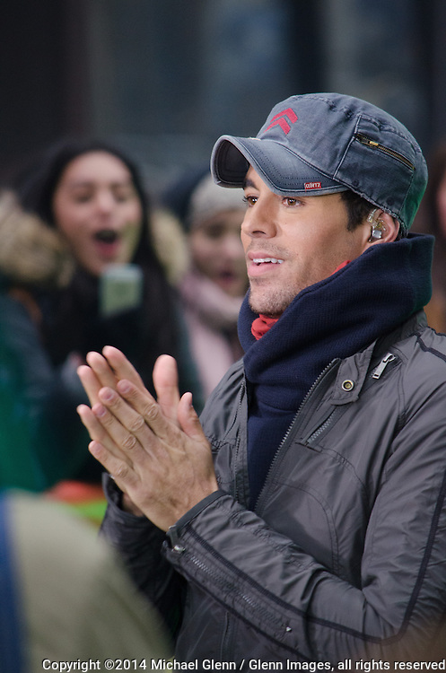 03/17/14 NYC, US // <br />  Enrique Iglesias performs on the Today Show stage  &copy;2014 Michael Glenn / Glenn Images