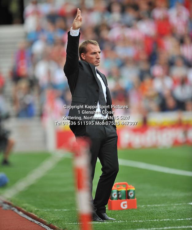 BRENDAN RODGERS MANAGER LIVERPOOL, Stoke City v Liverpool, Premiership, Britannia Stadium Sunday 9th August 2015