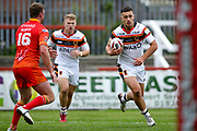 Bradford Bulls centre Vila Halafihi (26) in action  during the Kingstone Press Championship match between Sheffield Eagles and Bradford Bulls at, The Beaumont Legal Stadium, Wakefield, United Kingdom on 3 September 2017. Photo by Simon Davies.