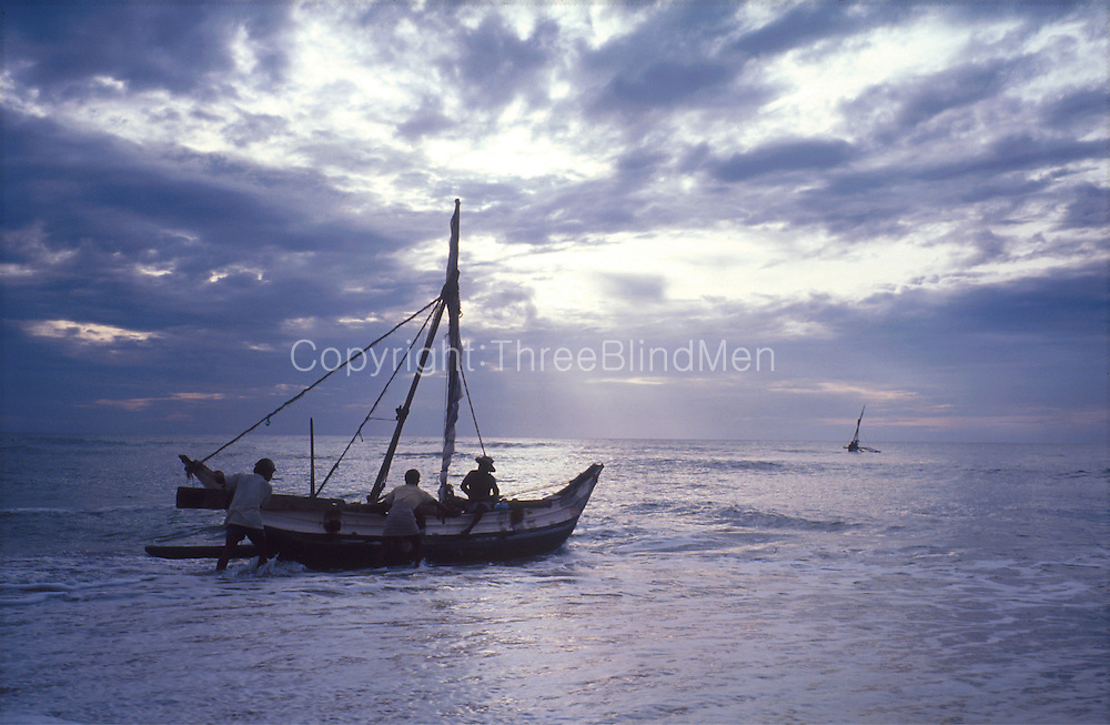 Fishing boats at dawn on the East Coast.