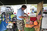 making food at 4th infantry area Kokomo Indiana Vietnam Veterans Reunion 2012