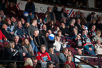 KELOWNA, CANADA - DECEMBER 2: Fans play beach ball bingo on December 2, 2015 at Prospera Place in Kelowna, British Columbia, Canada.  (Photo by Marissa Baecker/Shoot the Breeze)  *** Local Caption *** Fans;