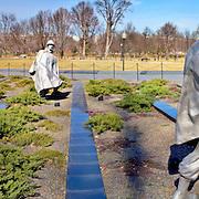 Panorama of Korean War Memorial, Washington DC Editorial Use Only.