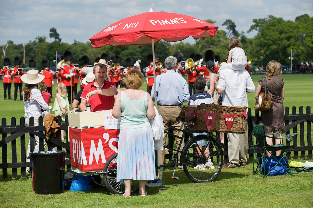 WINDSOR, ENGLAND - JUNE 14:  A Pimm's stall  at the Guards Polo Club on the day of the Queen's Cup Final  on June 14, 2009 in London, England.  (Photo by Marco Secchi/Getty Images)